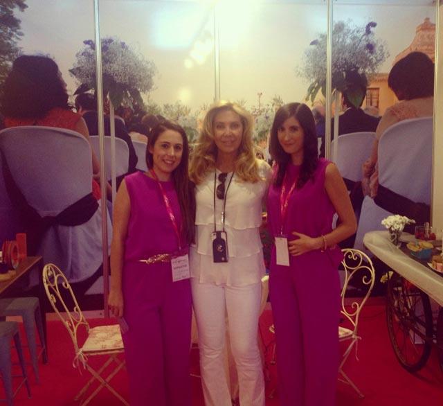 Norma Duval en la Feria Expo Mujer España 2015. La madrina de la feria visitó nuestro stand y quedó maravillada