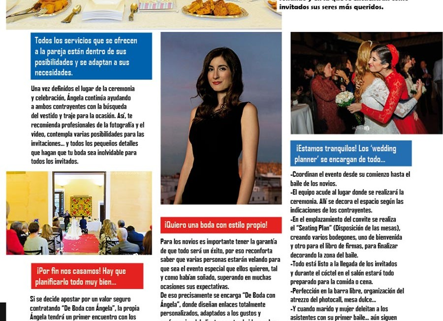 Sevilla Magazine nos visita de nuevo en las instalaciones de De Boda con Ángela en Sevilla