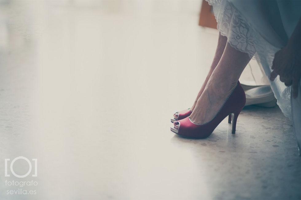 Detalle del calzado de Marta para su boda