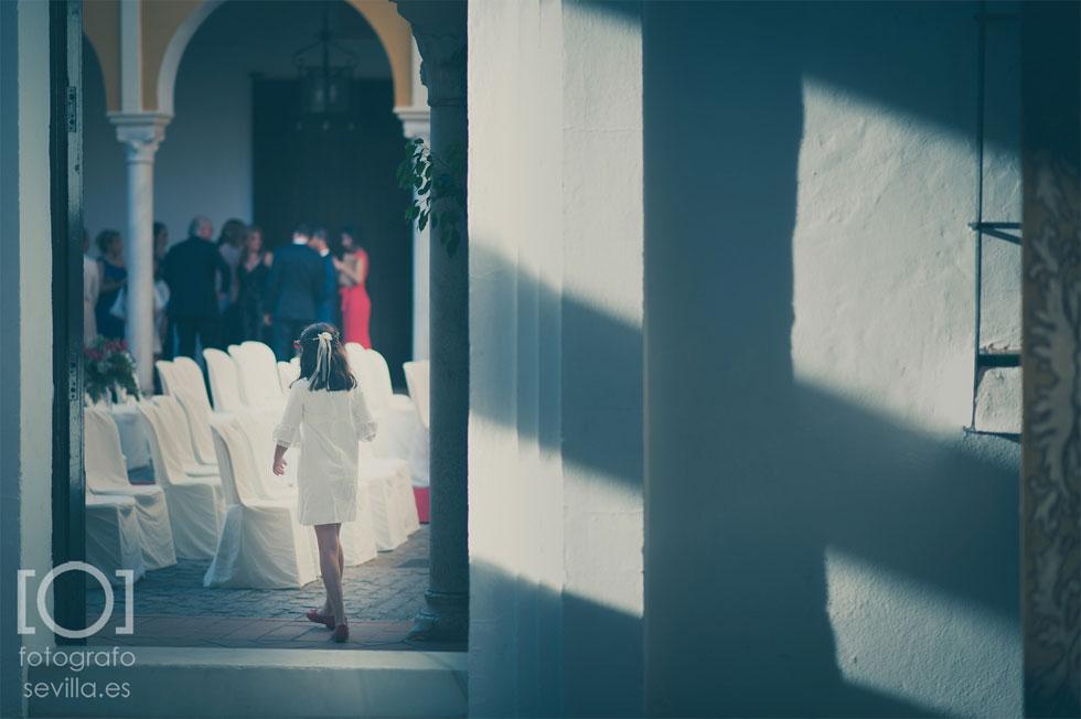 Una de las damas de honor de la boda de Joaquín y Marta