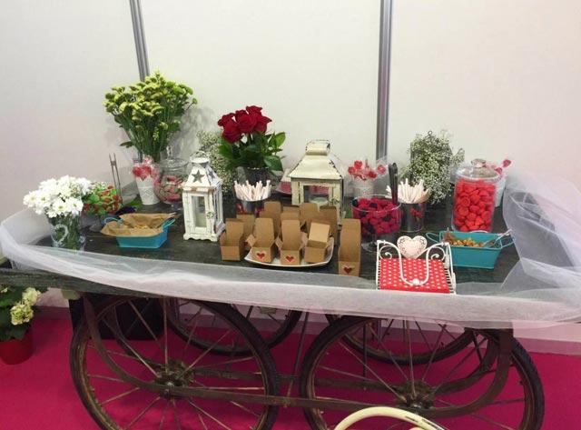 Mesa dulce para nuestro stand en Expo Mujer España 2015