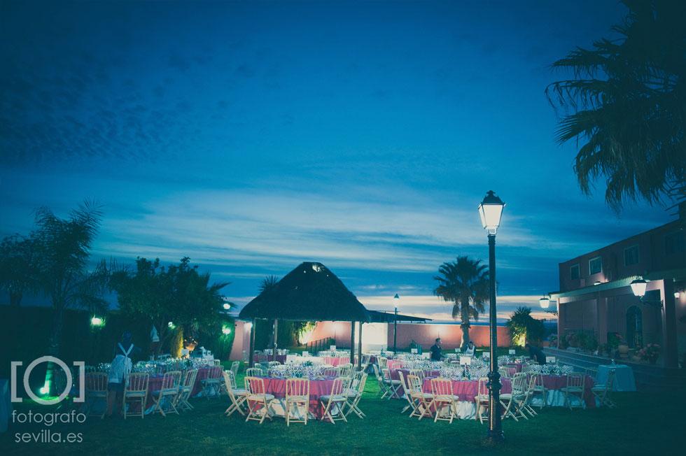 Vista general de la hacienda en la que Marta y Joaquín celebraron su boda