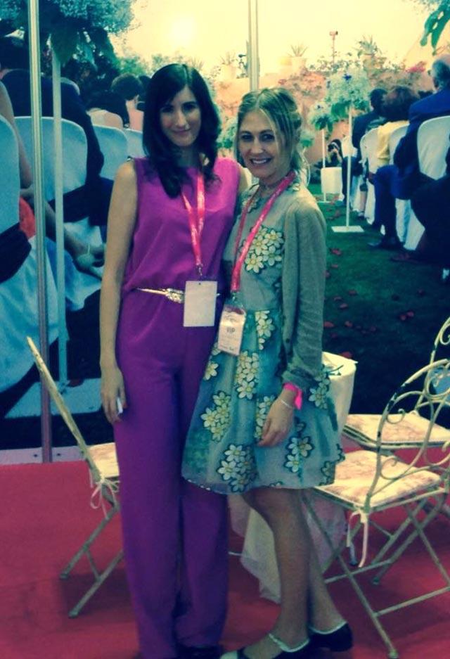 Con Maika, de Los sueños de Carlota en la Expo Mujer España 2015