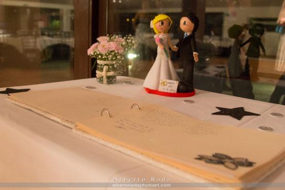 Idea para el libro de firmas de una boda