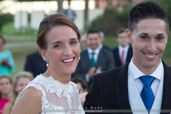 En la boda de Javier y María