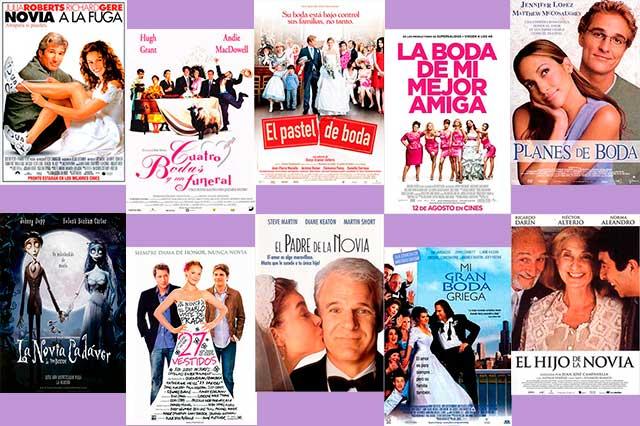Una lista con las diez mejores películas sobre bodas