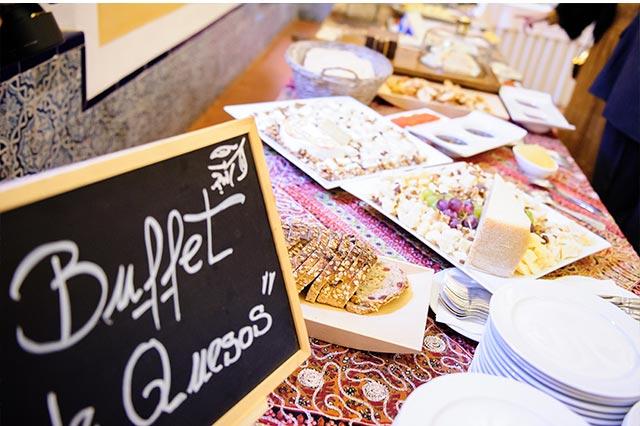 Buffet de quesos del Catering Miguel Ángel en la boda de S&A