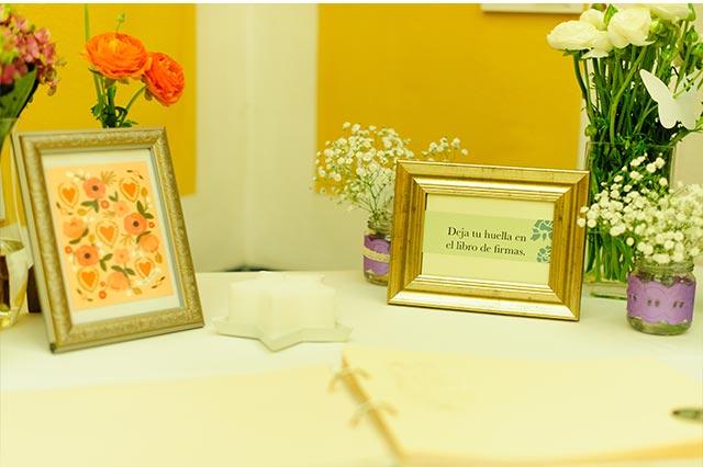 Mesa de firmas para la boda de S&A
