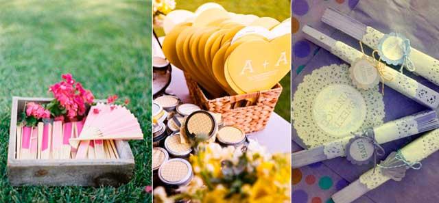 Abanicos y pay pay para regalar a las invitadas a una boda en verano