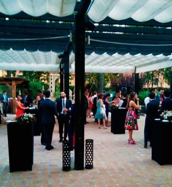Cóctel y aperitivos en la boda del Hotel Alfonso XIII