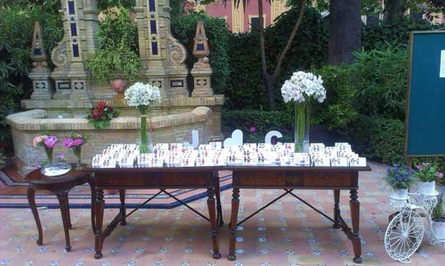 Mesa para el Seating Plan en el Hotel Alfonso XIII