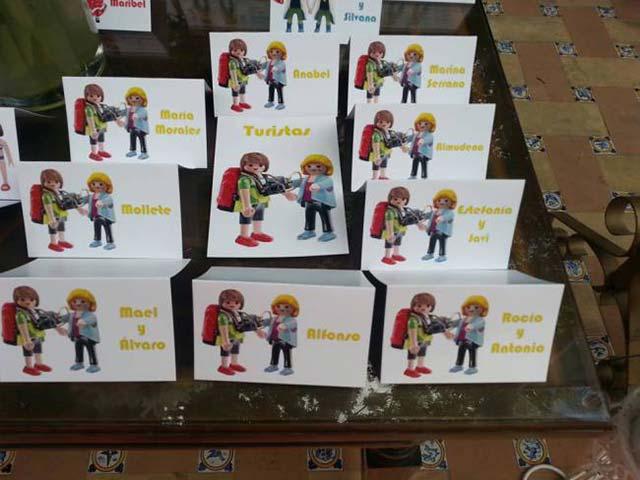 Seating Plan temático con Playmobil