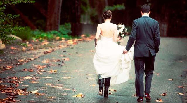 Una preciosa boda en otoño
