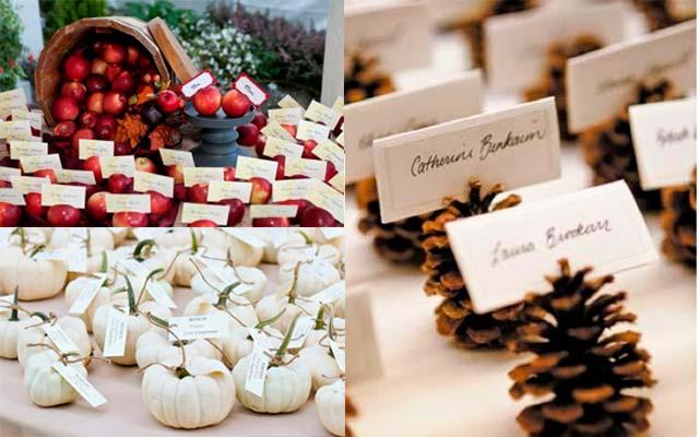 Seating plan para tu boda en otoño