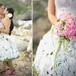 El crochet en los vestido de novia