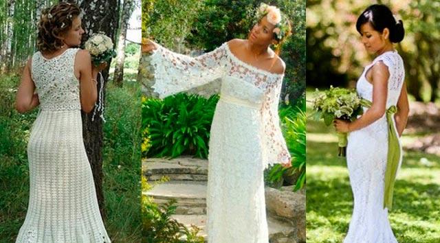 c680675d6 Vestidos de novia en crochet en el campo
