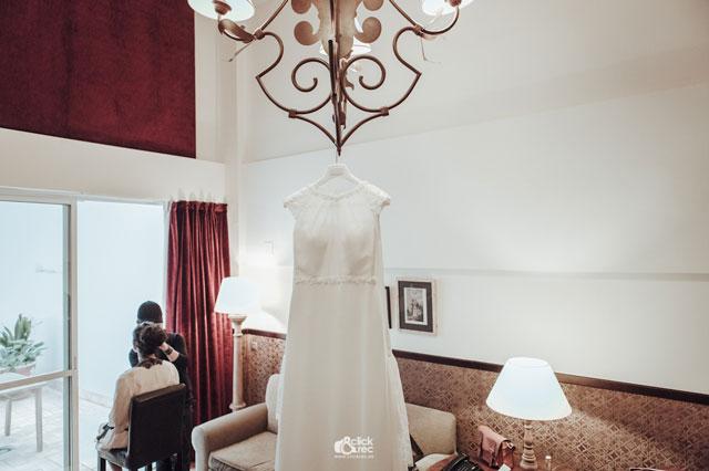 El precioso e impresionante vestido de novia de Edith