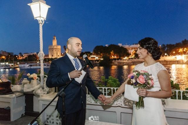 Momentos de la ceremonia en la boda de Edith y Antonio