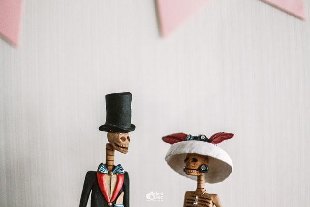 Muñecos simpáticos para decorar la boda de Antonio y Edith