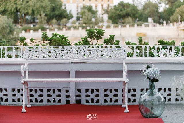 Detalle de la decoración de la boda de Edith y Antonio