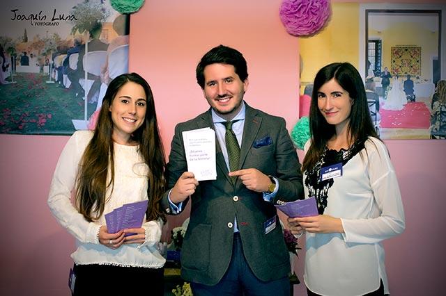 De boda con Ángela en la Feria del Salón de la boda de Jerez, Bodasur