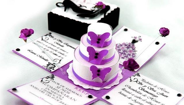 Invitación de boda original con una sorpresa en su interior