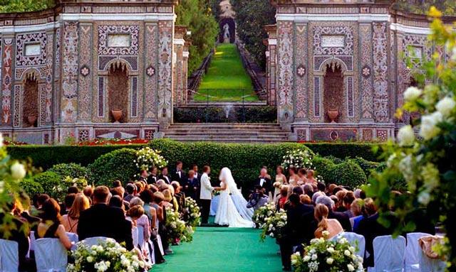 Existen jardines, haciendas y fincas preciosas en las que celebrar vuestra boda civil
