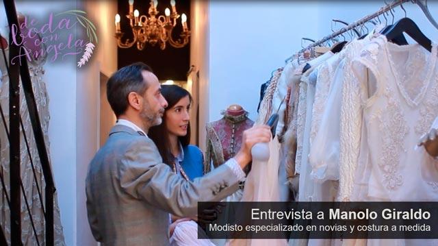 Entrevista a Manolo Giraldo, modisto y diseñador de vestidos de novia