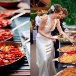 El buffet, una magnífica opción para bodas largas
