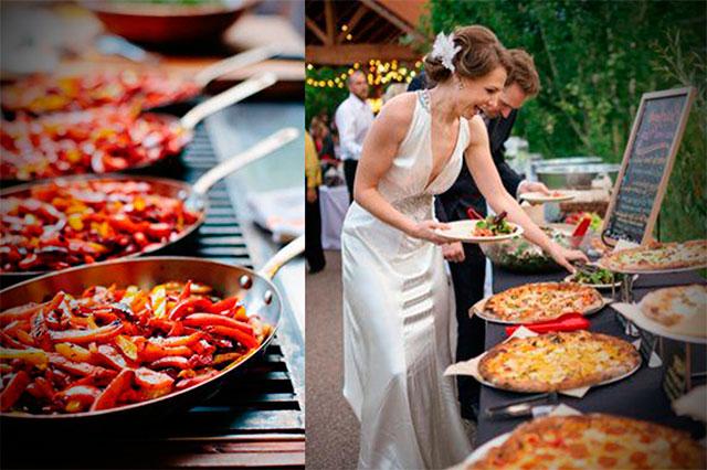 Las bodas tipo buffet son una magnífica opción para bodas largas