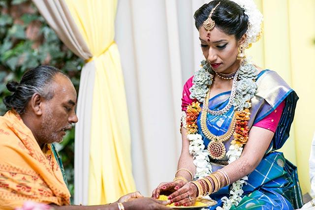 Siva, durante la ceremonia de la boda tradicional hindú