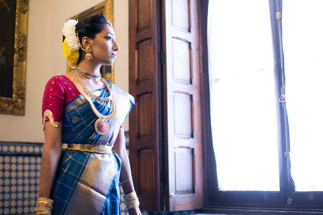Siva antes de su boda hindú en Sevilla