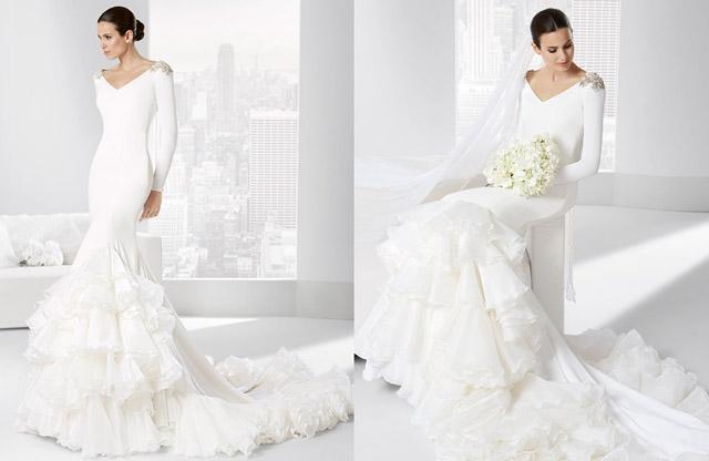 Vestido de novia con inspiración flamenca del diseñador Franc Sarabia