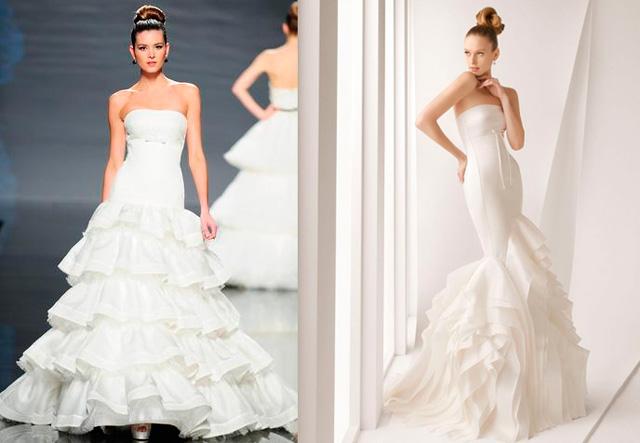Vestido de novia con inspiración flamenca de la diseñadora Rosa Clará