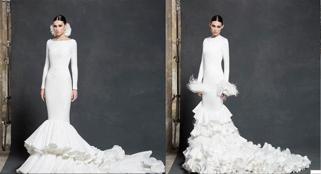 Vestido de novia con inspiración flamenca de la diseñadora Vicky Martín Berrocal
