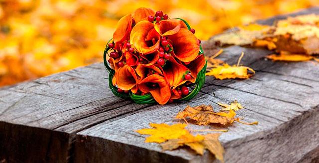 Una idea original para el ramo de novia de una boda en otoño