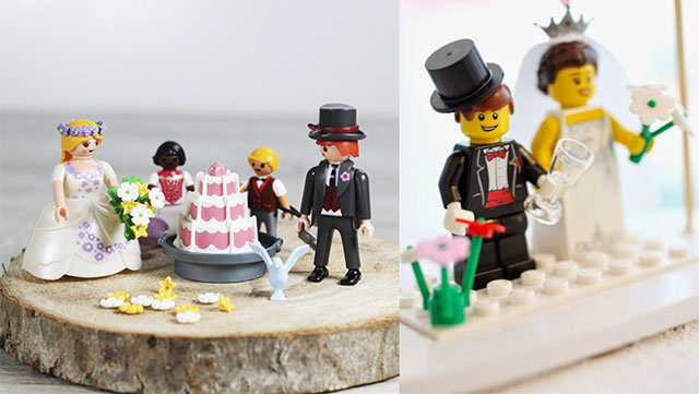 Figuras de Legopara tartas de bodas