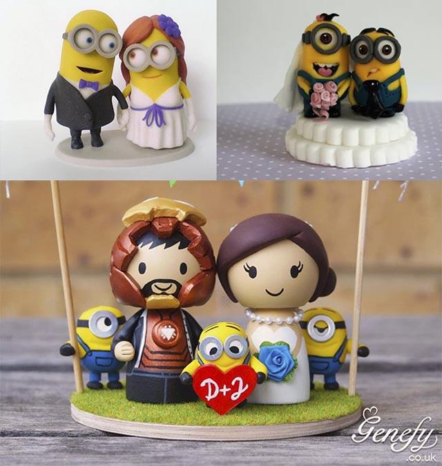 Figuras de Minions para tartas de bodas