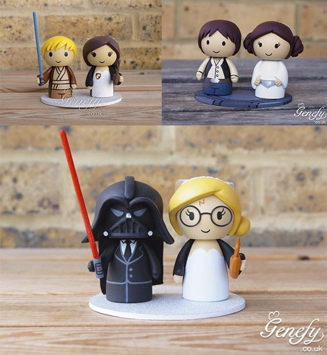 Figuras Star Wars para tartas de bodas