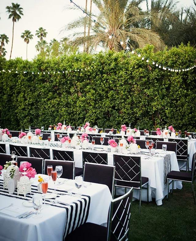 Mesa para boda de estilo rústico