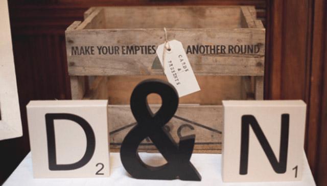 Dónde colocar letras para bodas