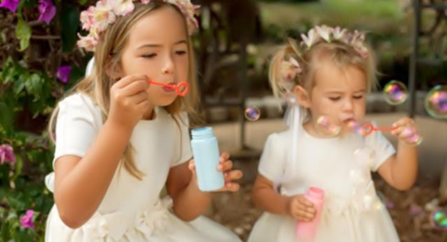 Ideas de burbujas para una comunión