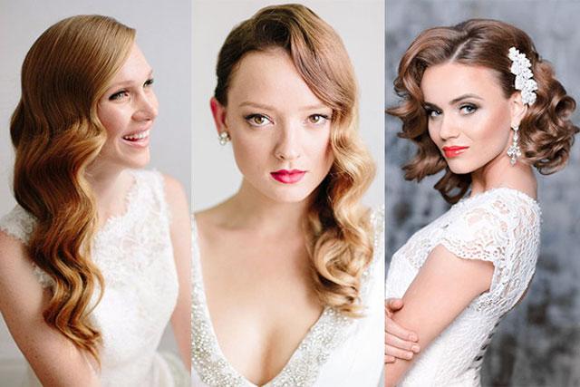 Peinados con ondas para novias que celebran su boda en otoño