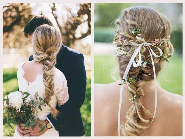 Peinados con trenzas para novias que celebran su boda en otoño