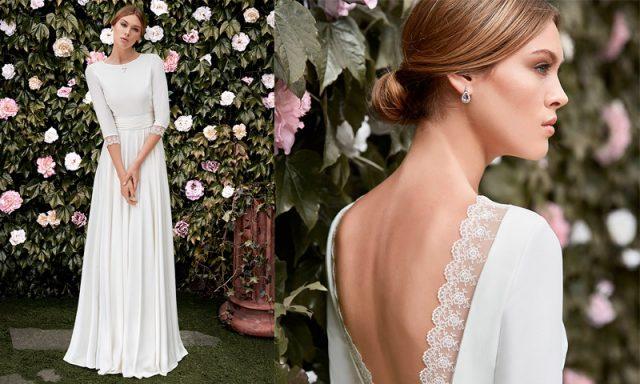 Vestido de novia para bodas en otoño, de Cristina Tamborero