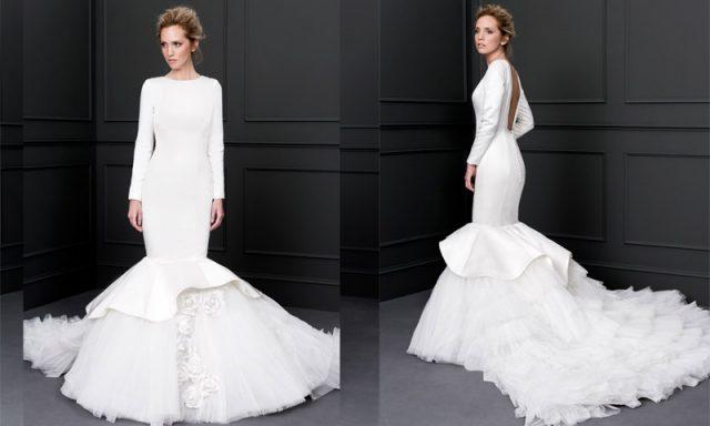 Vestido de novia para bodas en otoño, de Victoria