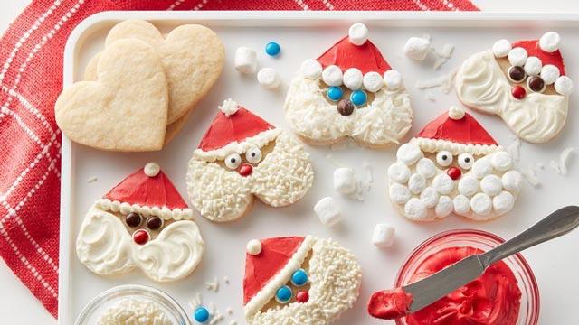 Galletas de Navidad con formas de Santa Claus