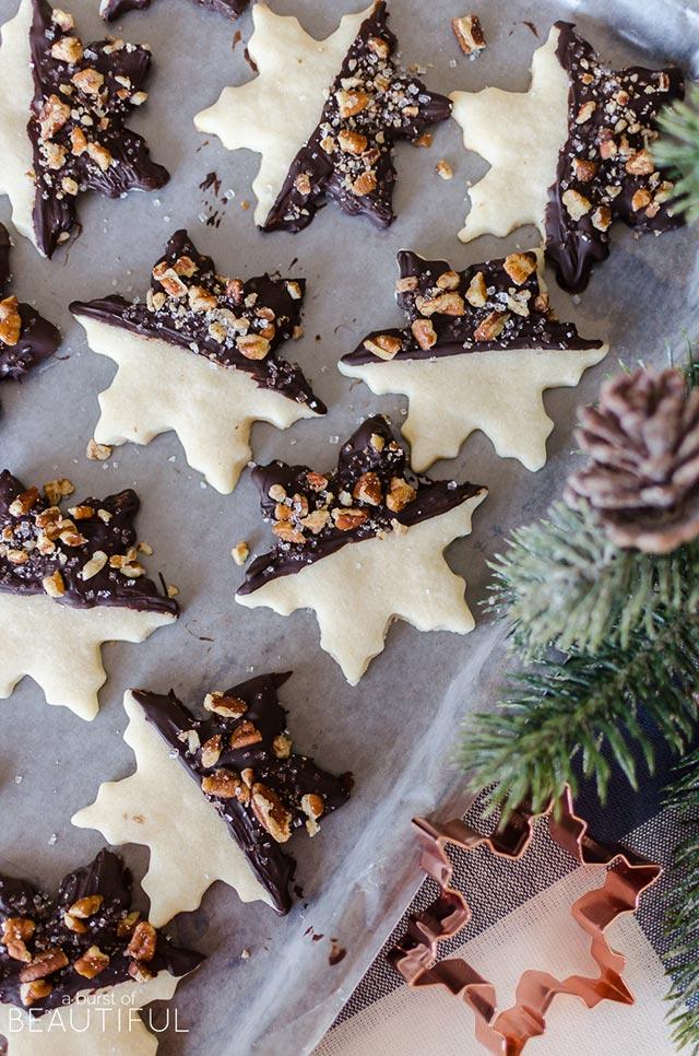 Galletas de Navidad con forma de hojas secas