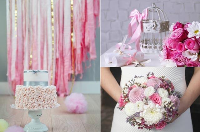 Ideas e inspiración para decorar tu boda con estilo Romántico Tonos pastel
