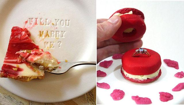 Pedir matrimonio mientras coméis unos muffins